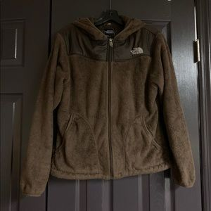 Northface Osito brown jacket Medium